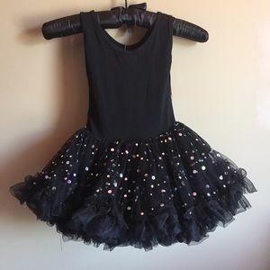 5b1387af Popatu Dresses | Nwt Black Sequin Little Girls Tulle Dress | Poshmark